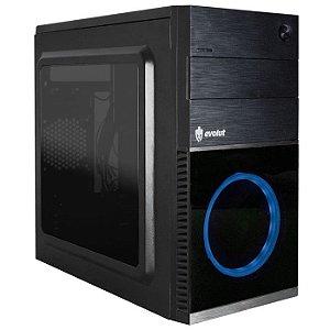 * GABINETE 1 BAIA MID-TOWER GAMER EG-804BL SHIN S/FONTE C/FAN LATERAL EM ACRILICO EVOLUT BOX
