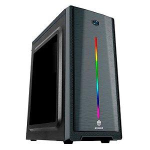 * GABINETE MID-TOWER GAMER EG-805 GAMMA S/FONTE RGB LATERAL EM ACRILICO EVOLUT BOX
