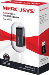 ADAPTADOR WIRELESS USB 300 MBPS MW300UM MERCUSYS BOX