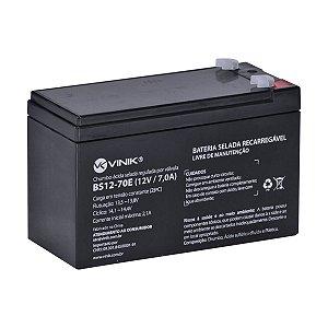 BATERIA 12V BS12-70E 7,0A SELADA VLCA CFTV VINIK BOX