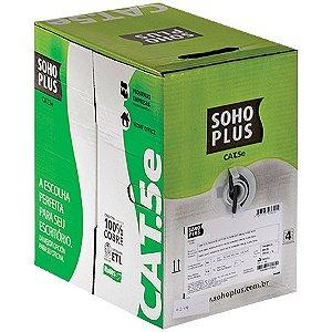 CAIXA DE CABO DE REDE 305 METROS CAT5E PRETO SOHO PLUS BOX