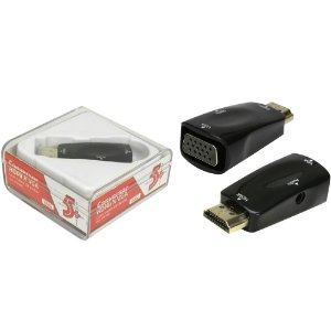 CONVERSOR HDMI PARA VGA SAIDA R/L 075-0822 5+ BOX