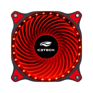 COOLER FAN P/ GABINETE 120MM F7-L130RD LED VERMELHO C3TECH BOX