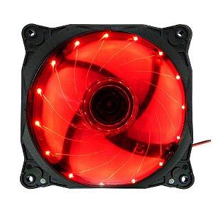 COOLER GAB 120MM EW1512E LED VERMELHO G-FIRE OEM