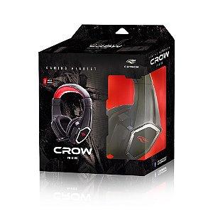FONE DE OUVIDO HEADSET PH-G100BK CROW GAMER PRETO C3TECH BOX