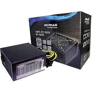 FONTE ATX 1000W FP1000 PFC ATVO 80 PLUS SILVER MYMAX BOX