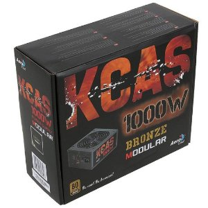 FONTE ATX 1000W KCAS SEMI-MODULAR REAL 80 PLUS BRONZE AEROCOOL BOX