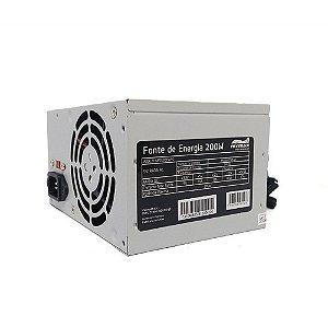 FONTE ATX 200W 20/24 PINOS MPSU200WPC 2-SATA 2 IDE MYMAX OEM