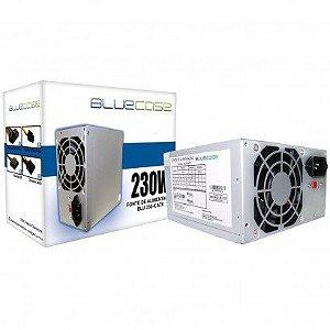 FONTE ATX 230W REAL 20/24 PINOS BLU230ATX-K S/CABO BLUECASE BOX
