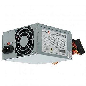 FONTE ATX 230W 20/24 PINOS PX230 2-SATA 2 IDE POWERX OEM