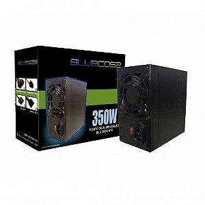 FONTE ATX 350W REAL 20/24 PINOS BLU350-E 2-SATA 2 IDE BLUECASE BOX