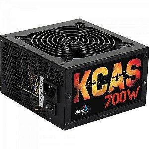 FONTE ATX 700W KCAS-700 EN53381 80 PLUS - BRONZE AEROCOOL BOX