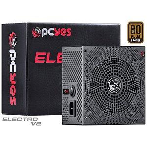 FONTE ATX 750W REAL ELECV2PTO750W ELECTRO V2 SERIES 80 PLUS - BRONZE PCYES BOX