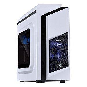 GABINETE DWABCOPT2FCA MID-TOWER S/ FONTE WHITE DWARF COM ACRILICO LED AZUL PCYES BOX