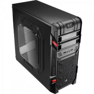 GABINETE MID-TOWER GT ADVANCE 3.0 WINDOW GAMER S/ FONTE PRETO AEROCOOL BOX