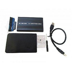 GAVETA HD E SSD 2,5 BCSU301 SATA USB 3.0 BLUECASE BOX