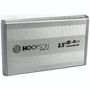 GAVETA PARA HD 3,5 CHD-004 MESA SATA USB 2.0 PRATA HOOPSON BOX
