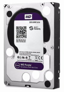 HD 1000GB SATA 3 6GB/S WD10PURZ 5400RPM PURPLE SURVEILLANCE WESTERN DIGITAL BOX