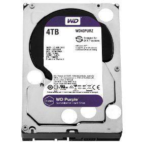 HD 4000GB SATA 3 6GB/S WD40PURX 5400RPM PURPLE SURVEILLANCE WESTERN DIGITAL BOX