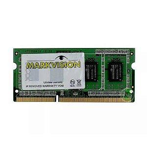 MEMORIA 4GB DDR3 1333 MHZ MVTD3S4096M13 16CP NOTEBOOK MARKVISION OEM