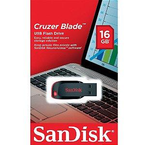 PEN DRIVE 16 GB CRUZER BLADE SDCZ50-016G USB 2.0 SANDISK BOX