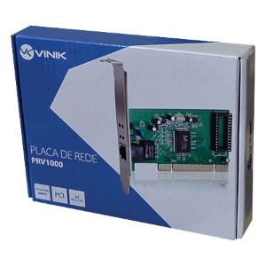 PLACA DE REDE PCI 10/100/1000 PRV-1000 VINIK BOX