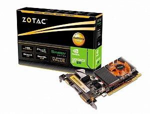 PLACA DE VIDEO 1 GB PCIEXP GT 610 ZT-60602-10L 64BITS DDR3 SYNERGY EDITION VGA/HDMI/DVI ZOTAC BOX