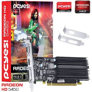 PLACA DE VIDEO 1 GB PCIEXP HD 5450 H545HR1G 64BITS DDR3 RADEON PCYES BOX
