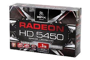 PLACA DE VIDEO 1 GB PCIEXP HD 5450 HD-545X-ZQH2 DDR3 RADEON HDMI/DVI XFX BOX