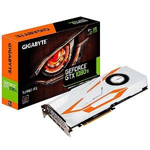 PLACA DE VIDEO 11GB PCIEXP GTX 1080 TI GV-N108TTURBO-11GD 352 BITS GDDR5X NVIDIA GIGABYTE BOX