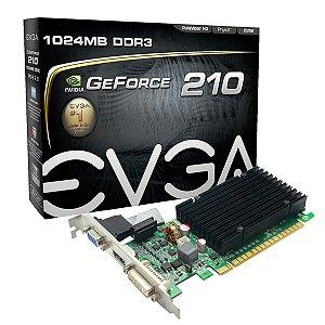 PLACA DE VIDEO 1GB PCIEXP 210 01G-P3-1313-KR 64BITS DDR3 GEFORCE EVGA BOX