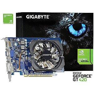 PLACA DE VIDEO 2GB PCIEXP GT 420 GT-N420-2GI REV3.0 GIGABYTE GIGABYTE BOX