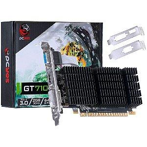 PLACA DE VIDEO 2GB PCIEXP GT 710 PJ7106402D3LP 64BITS DDR3 NVIDIA BOX
