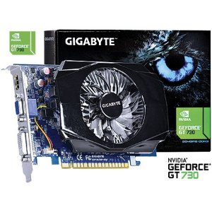PLACA DE VIDEO 2GB PCIEXP GT 730 GV-N730-2GI 128BITS DDR3 GEFORCE GIGABYTE BOX