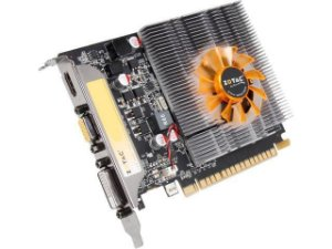 PLACA DE VIDEO 2GB PCIEXP GT740 ZT-71004-10L 128BITS DDR3 GEFORCE NVIDIA VGA/HDMI/DVI ZOTAC BOX