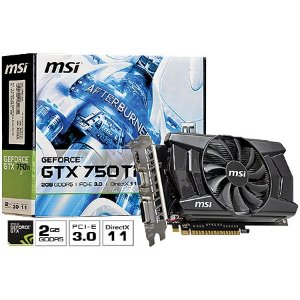 PLACA DE VIDEO 2GB PCIEXP GTX 750TI N750TI-2GD5/OC 128BITS GDDR3 MSI BOX
