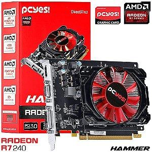 PLACA DE VIDEO 2GB PCIEXP R7 240 HAMMER PH24012802D3 128BITS DDR3 RADEON PCYES BOX