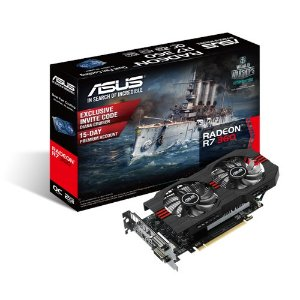 PLACA DE VIDEO 2GB PCIEXP R7 360 R7360-OC-2GD5-V2 128BITS GDDR5 RADEON ASUS BOX