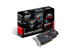 PLACA DE VIDEO 2GB PCIEXP R7 370 STRIX-R7370-DC20C-2GD5-GAMING 256BITS GDDR5 ASUS BOX