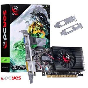 PLACA DE VIDEO 4GB PCIEXP GT 730 PTYT730GT12804D3LP 128BITS DDR3 GEFORCE PCYES BOX