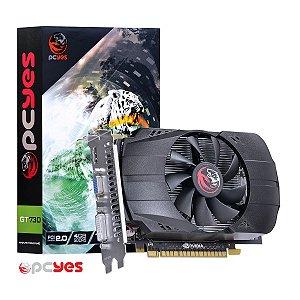 PLACA DE VIDEO 4GB PCIEXP GT 730 PV73012804D5 128BITS GDDR5 PCYES BOX