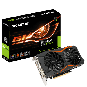PLACA DE VIDEO 4GB PCIEXP GTX 1050 TI GV-N105TG1 128BITS SDDR3 GEFORCE GIGABYTE BOX