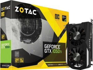 PLACA DE VIDEO 4GB PCIEXP GTX 1050 TI ZT-P10510B-10L 128BITS GDDR5 GEFORCE ZOTAC BOX