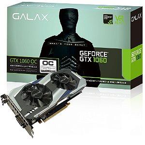 PLACA DE VIDEO 6GB PCIEXP GTX 1060 60NRH7DSL9OC 192 BITS DDR5 GEFORCE ENTUSIASTA GALAX BOX