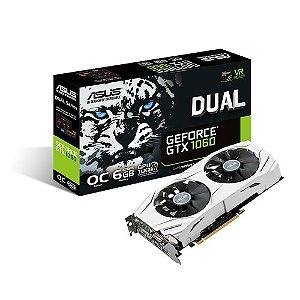 PLACA DE VIDEO 6GB PCIEXP GTX 1060 DUAL-GTX1060-06G 192 BITS GDDR5 GEFORCE ASUS BOX