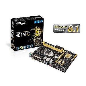 PLACA MAE 1150 MICRO ATX H81M-C DDR3 ASUS BOX IMPORTADO