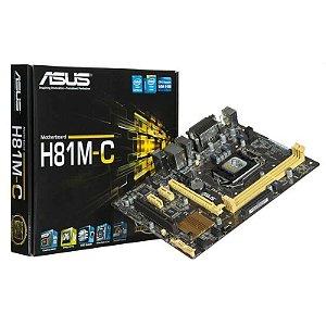 PLACA MAE 1150 MICRO ATX H81M-C/BR DDR3 VGA, DVI-D ASUS BOX