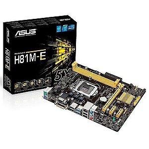 PLACA MAE 1150 MICRO ATX H81M-E DDR3 VGA, DVI, USB 3.0 ASUS BOX