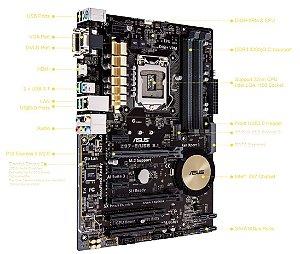 PLACA MAE 1150 Z97-E DDR3 USB 3.1 ASUS BOX IMPORTADO