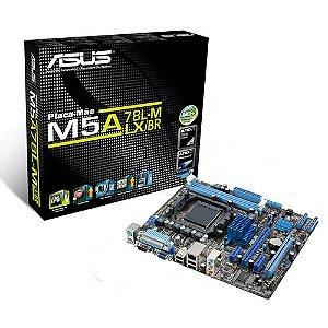 PLACA MAE AM3 MICRO ATX M5A78L-M LX/BR DDR3 ASUS BOX